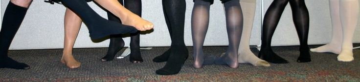 Having fun in Jobst compression stockings #healthylegs #sexylegs