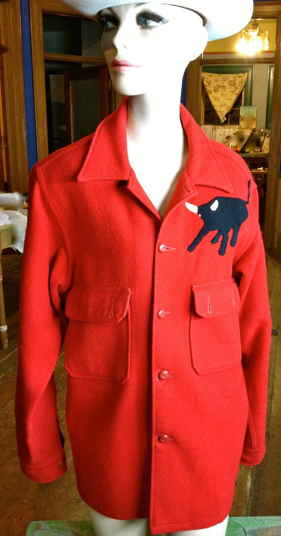 Vintage Red 100  Wool Boys Scouts of America by TheJavaShop, $45.00