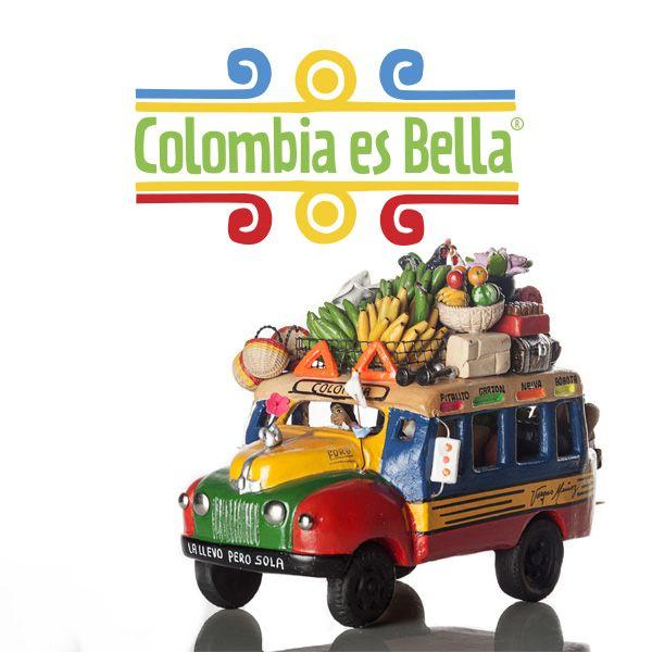 -Chiva Vargas Muñoz-  Elaborada en cerámica 3 veces cocida, con coloridos detalles, representativos de la cultura Colombiana. http://www.elretirobogota.com/esp/?dt_portfolio=colombia-es-bella