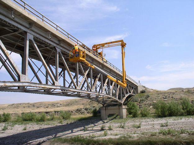 Department Of Transportation Bridge | Bridge Inspection. Photo By Wyoming  Department Of Transportation .