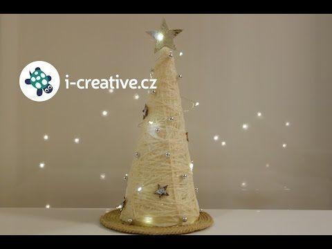 Návod jak vyrobit vánoční stromeček z bavlnky | i-creative.cz - Inspirace, návody a nápady pro rodiče, učitele a pro všechny, kteří rádi tvoří.