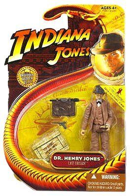 Indiana Jones 3 3/4 Inch - Dr. Henry Jones - Last Crusade by Hasbro. $25.48. Originally released in 2008 - Retired / Out of production. Includes action figure accessories and Indiana Jones Hidden Relic.. DR. HENRY JONES from Indiana Jones and the Last Crusade 2008 Action Figure & Accessories (Includes Hidden Relic). Figure stands approximately 3.75 inches tall.. Ages 4 and up. From Hasbro. DR. HENRY JONES from Indiana Jones and the Last Crusade 2008 Action Figure ...