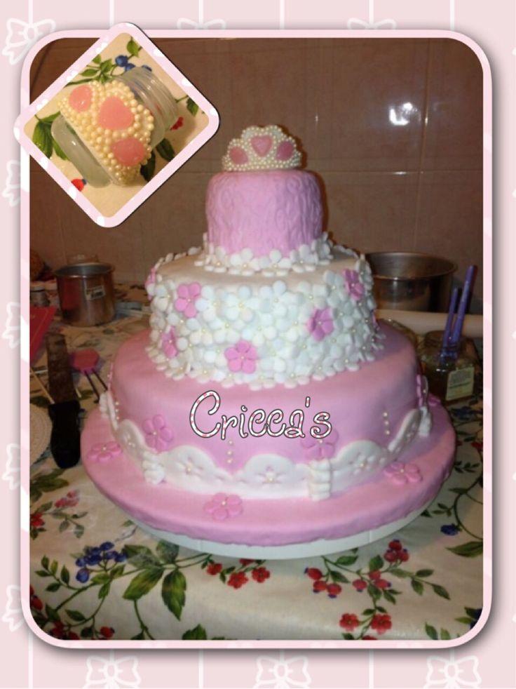 Cricca's:  Torta in pasta di zucchero compleanno bimba