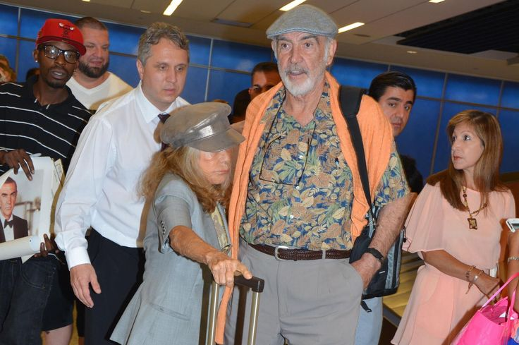 Sean Connery appears in good health as he's mobbed by fans as he appears in New York
