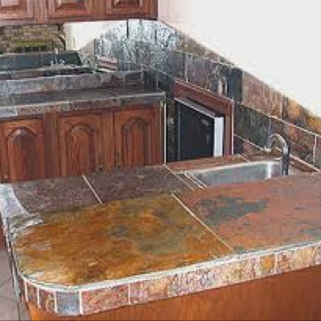 Slate For Kitchen Counters: Green Kitchen Cabinets, Green Cabinets And Kitchen Colors