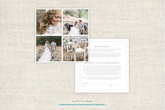Photographer Print Release Form by theFlyingMuse on @creativemarket