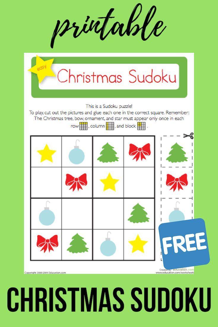 photo regarding Christmas Sudoku Printable named Xmas Sudoku Education Options Discovering game titles, Math