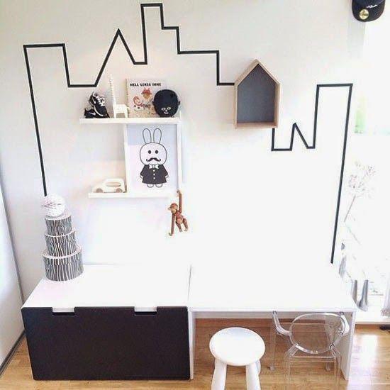washi tape decoración paredes niños