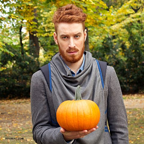 Halloween // RedHead sporting grey Warmour™