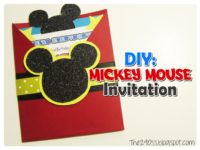 Mickey Mouse invitations  Ears inside is overkill
