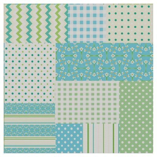 A very pretty Faux Patchwork Fabric with a mixture of patterns from the Posh & Painterly 'Spring Sunshine' collection by Judy Adamson: up to $27.95 per yard - http://www.zazzle.com/spring_sunshine_faux_patchwork_patterns_fabric-256112199402232833?rf=238041988035411422&tc=pintw