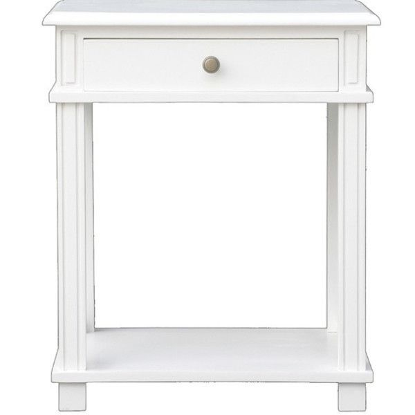 Hamptons Bedside Table - White Perfect Bedside table - could also double as a side table next to the sofa. #hamptonsbedside #hamptonsbedroom