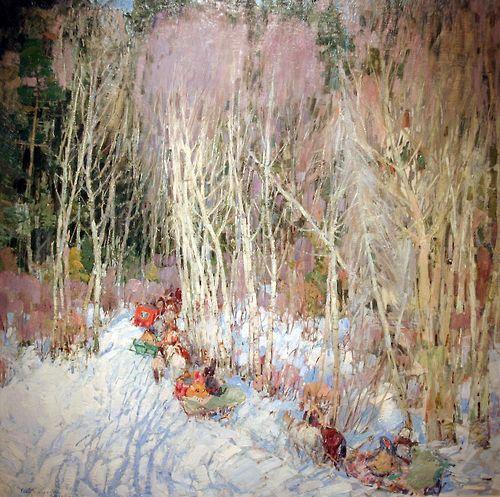 Leon Gaspard (American, born Russia, 1882-1964)  Russian Forest, 1921 (Rockford Art Museum)