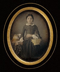 Girl Holding a Basket, Atelier Héliographique, about 1849: 1849 Girls, Atelier Héliographique, Girls Holding, Art Reference, Vintage Photo, 1849 Hands Color, Baskets 1849, Baskets Designs, Antiques Photographers
