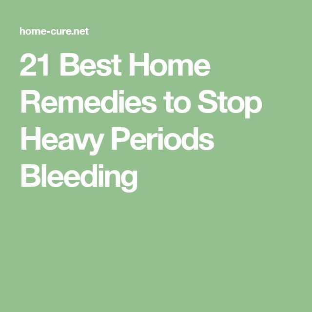 Home Remedy For Heavy Periods - YouTube