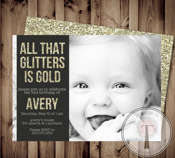 29 best images about Birthday Invite Ideas – Golden Birthday Invitation