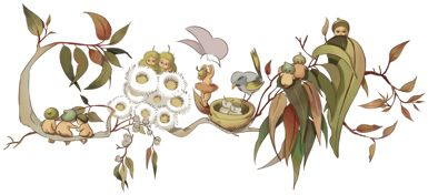 Loving today's Google Doodle! Cecilia May Gibbs' 136th Birthday. Image used by permission from © The Northcott Society and Cerebral Palsy Alliance 2013