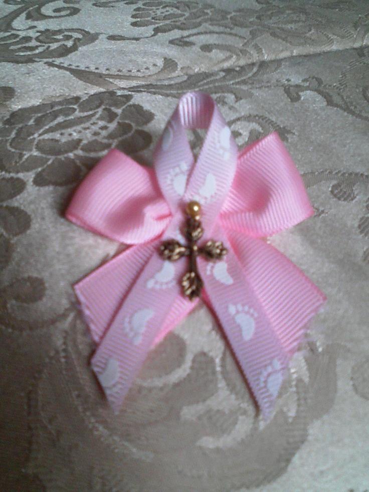 Pink Orthodox Baptism Witness Pin.