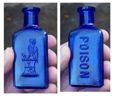 Beautiful Colbalt Glass Poison Bottle.