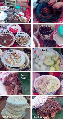making Rujak Cingur - a traditional food from East Java| Indonesian's food