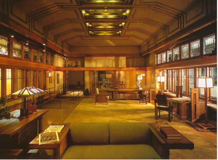 1000 images about the prairie school on pinterest - Frank lloyd wright house interiors ...