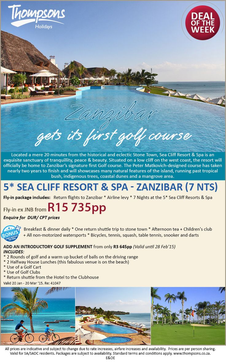 The 5* Sea Cliff Resort & Spa will be home to Zanzibar's first signature golf course