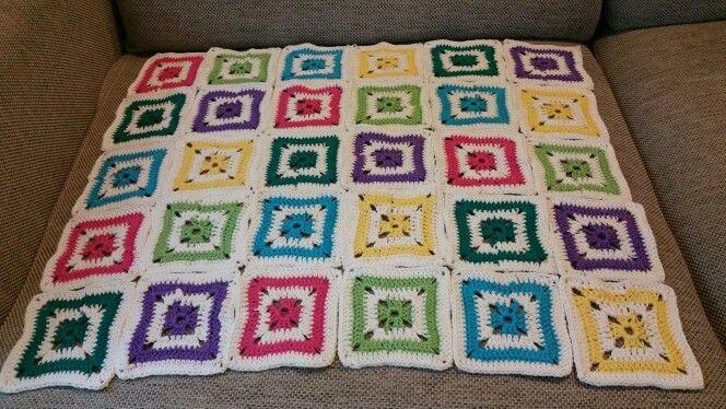 Granny squares blanket. in the making