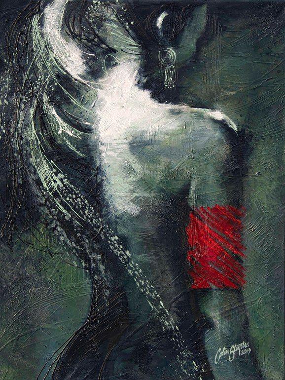 "Saatchi Online Artist: Colin Staples Life Art; Acrylic 2013 Painting ""Moonlight"""
