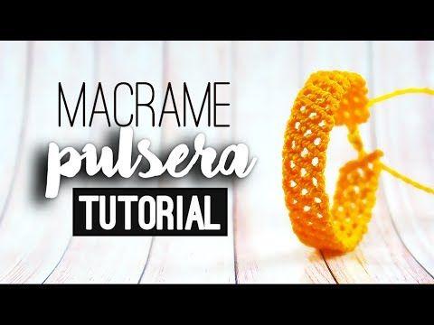 Pulsera de red diagonal (muy fácil) ♥︎ macramé | Tutorial | How to - YouTube