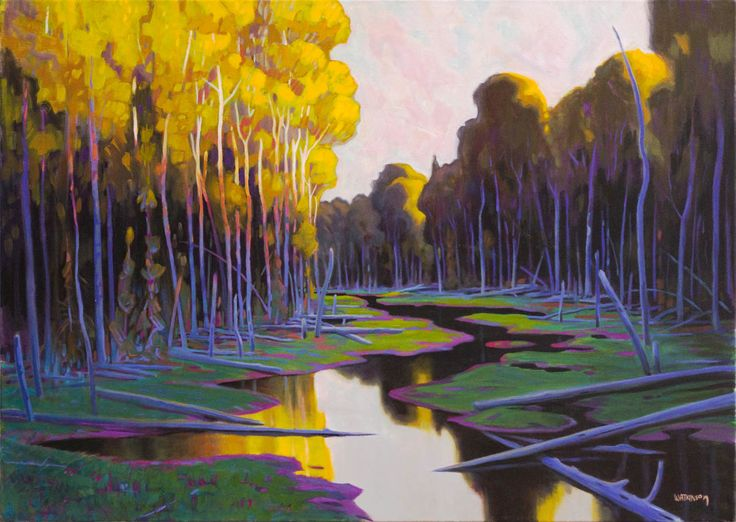 Terry Watkinson, 'Night Ascends' at Mayberry Fine Art 30 x 42 (2010)