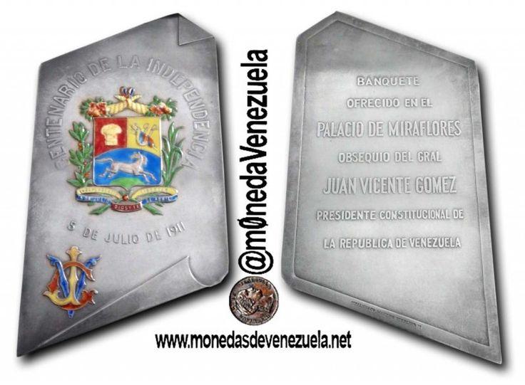 Invitación al Banquete de Gala Centenario de la Independencia de Venezuela