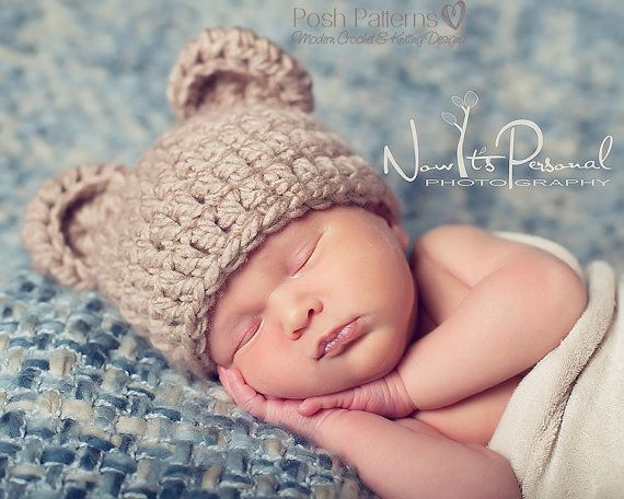 Crochet PATTERN - Crochet Bear Hat Pattern - Baby Bear Hat ...