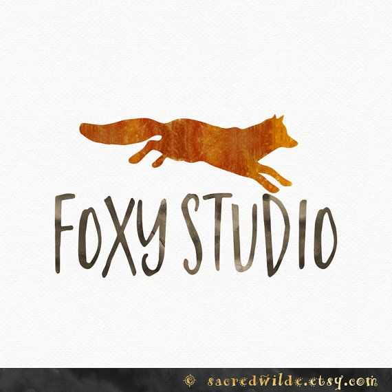 Watercolor Fox Logo Design  Watercolour Fox  by SacredWilde