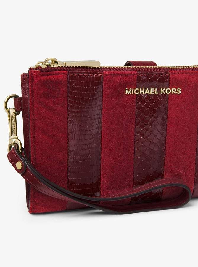 7318c9652251 MICHAEL Michael Kors Adele Mixed-Media Smartphone Wristlet ...