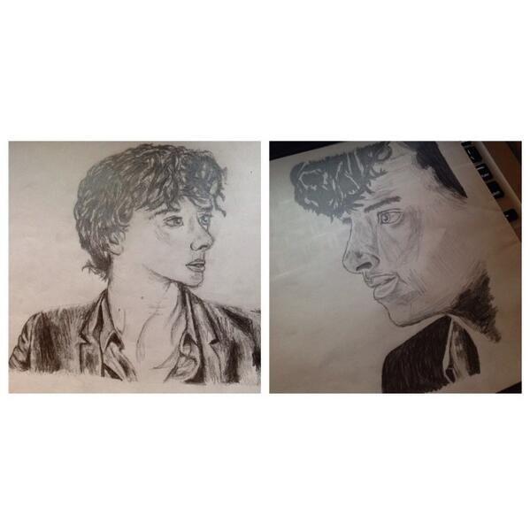 Twitter  @bellasasharobin #sketch_dailies  #Sherlock