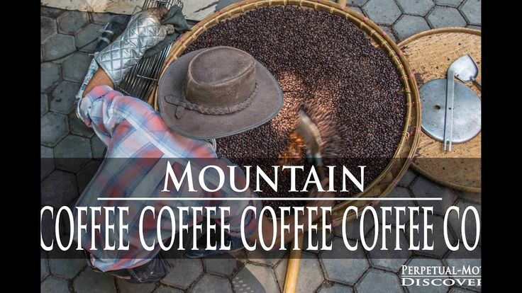 Chiang Mai Thailand man roasts coffee in cement Mixer?!