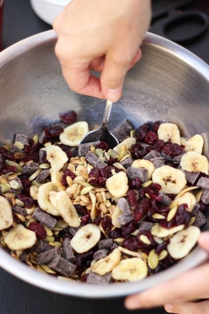 Nut-free monkey mix. And this one looks good, too: http://www.food.com/recipe/monkey-mix-188946