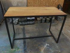 meuble industriel table mange debout sur mesure