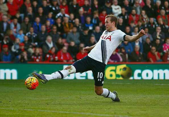 Harry Kane scores his second to put Spurs 4-1 up away to Bournemouth 25/10/15