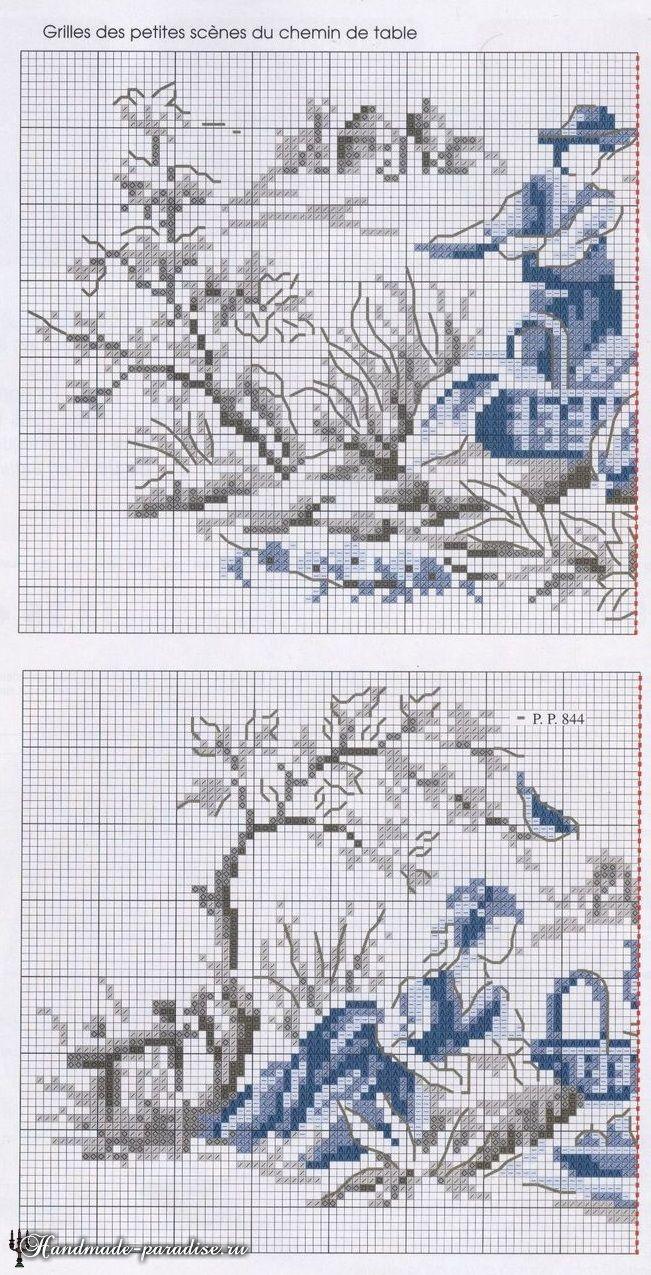 вышивка просто инструкция создания схемы