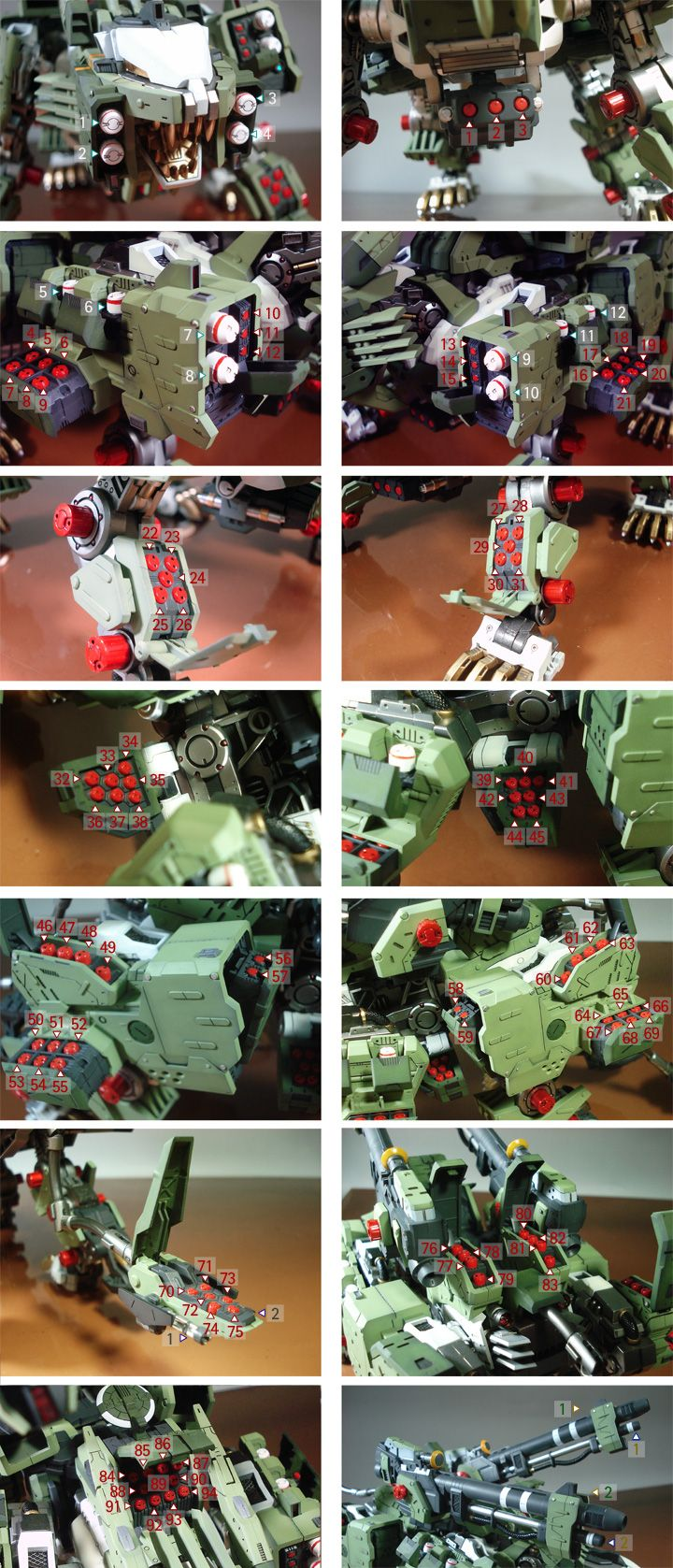 HMM Zoids 1/72 Rz-041 Liger Zero Panzer: Improved Work by KissBlue. Full Photoreview No.38 Big Size Images | GUNJAP