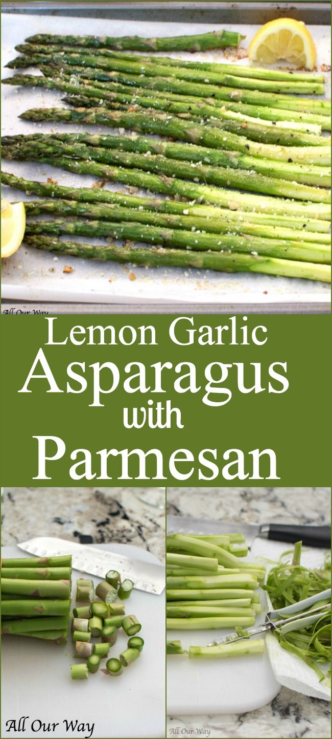 Roasted Lemon Garlic Asparagus with Parmesan is a quick and easy vegetable side that is loaded with flavor and the touch of lemon gives the asparagus a light bright note.