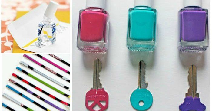 Don't throw out your old nail polish. Even if you no longer like the color on your nails, you can use colored polishes for all sorts of crafts around the house. And clear nail polish can be a real lifesaver in a pinch. Here are 21 clever ways to use nail polish that don't involve your nails. Nail Polish Hacks Use nail polish to seal