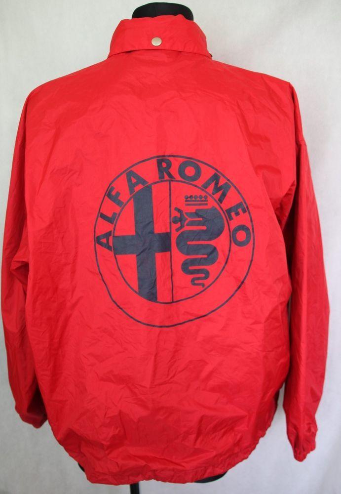 Mens Vintage Retro Alfa Romeo Cuore Sportivo Motorsport Red Rain