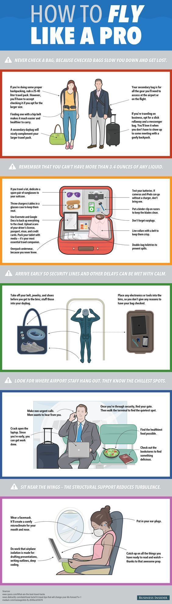 The Official Business Insider Guide To Conquering Air Travel:How to fly like a pro. (Travel Infographic_02)
