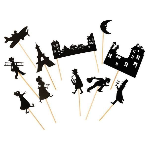 Bring storytime to new heights with our charmingly unique Paris Shadow Puppets designed in France. With a simple flashlight or lamp and a little imagination, ch