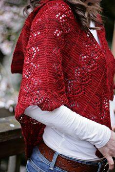 Ravelry: Jo's Pride Hooded Shawl pattern by Sivia Harding