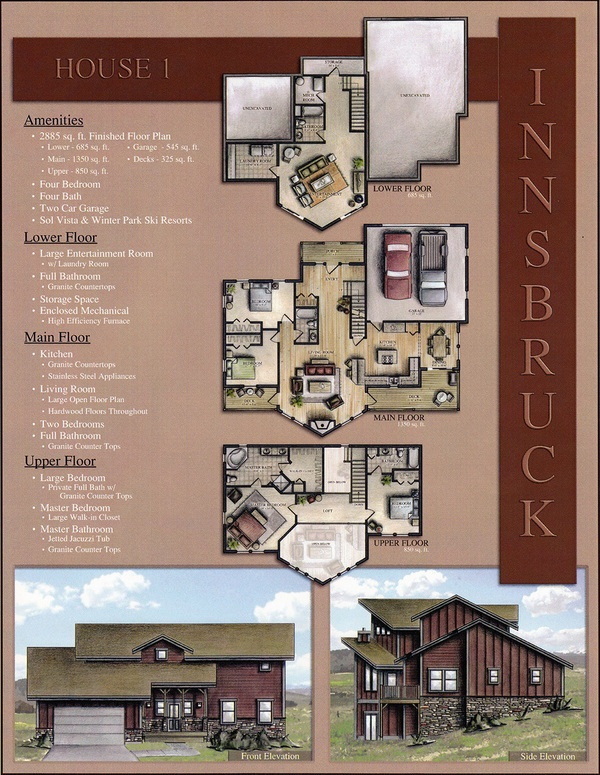 Great Rendered Floor Plans And Use Of Exterior Renderings On The Board