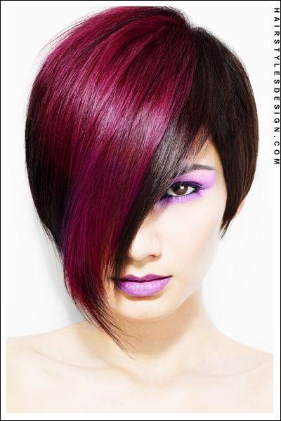 Love the color: Hair Ideas, Haircuts, Hair Colors Ideas, Purple Hair, Hairstyles, Shorts Hair, Haircolor, Hair Cut, Hair Style