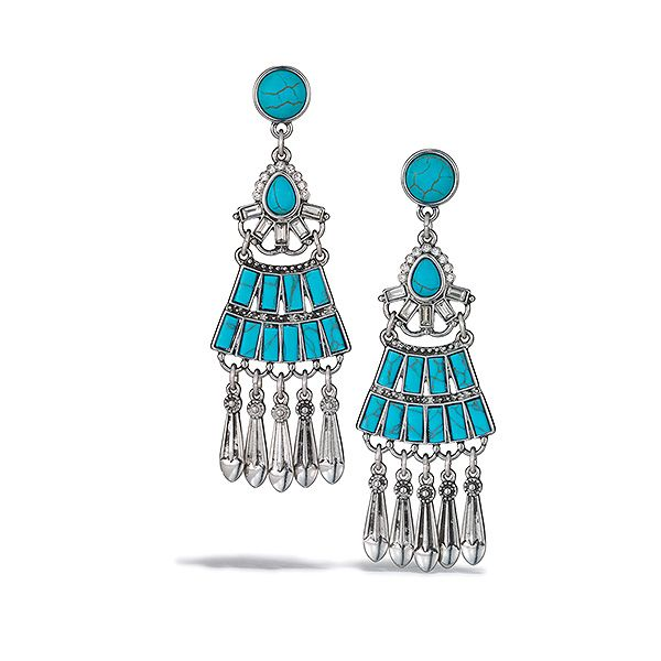 Genuine turquoise adds the perfect touch to your boho chic look. https://www.avon.com/product/mark-by-avon-oh-so-boho-earrings-60321?rep=Abigailstore&c=MB_Pinterest&utm_source=MB_Pinterest #earrings #earringsforsale #shopping #jewelrys #clothing
